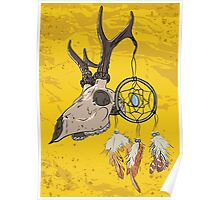 Animal Skull with dreamcatcher  Poster