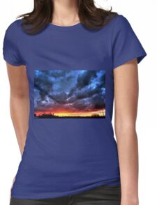 Angry Sunset Womens Fitted T-Shirt