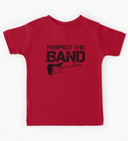 Respect The Band - Electric Guitar (Black Lettering) Kids Tee