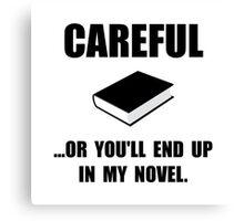 Careful Novel Canvas Print