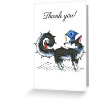 Husky Grad (Thank You Card) Greeting Card