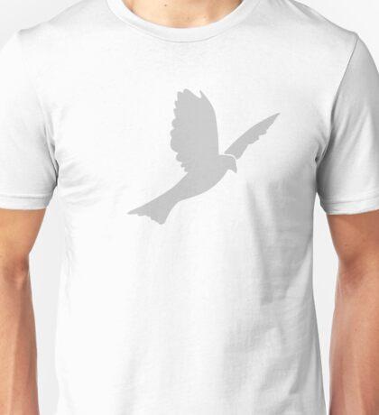 Beautiful Grey Dove Silhouette Unisex T-Shirt