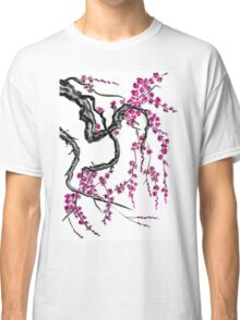 Pink flowers of sakura Classic T-Shirt