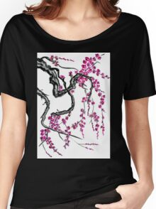 Pink flowers of sakura Women's Relaxed Fit T-Shirt