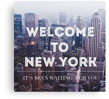 Welcome to New York Taylor Swift Canvas Print