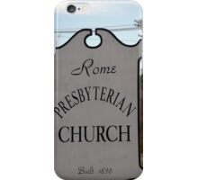 Church Sign, Holmes County, Ohio. iPhone Case/Skin