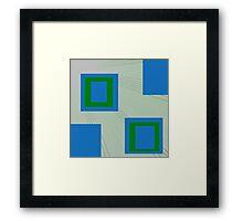 Square Up Framed Print