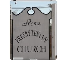 Church Sign, Holmes County, Ohio. iPad Case/Skin