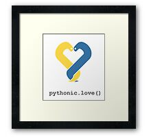 Pythonic Love Framed Print