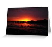 Sunset at the Beach Greeting Card