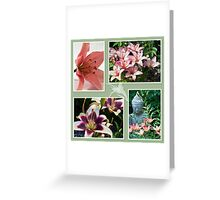 Lily Photo Collage  Greeting Card