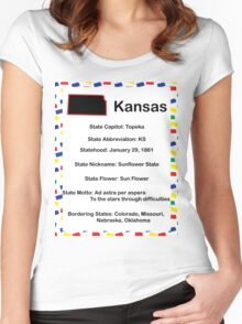 Kansas Information Educational Women's Fitted Scoop T-Shirt