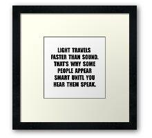Light Smart Framed Print