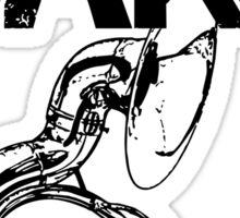 I'm With The Band - Sousaphone (Black Lettering) Sticker