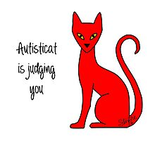Autisticat is judging you Photographic Print