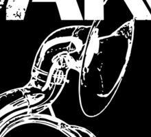 I'm With The Band - Sousaphone (White Lettering) Sticker