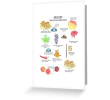 Mead and It's Varieties Greeting Card