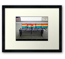 Gay Pride Flags Fly Framed Print