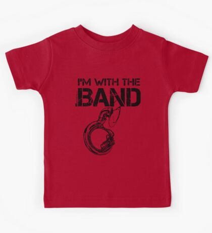 I'm With The Band - Sousaphone (Black Lettering) Kids Tee