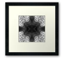 Black and White Contemporary Geo Abstract Art Framed Print