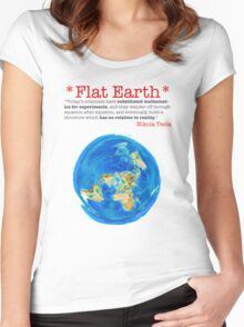 Flat Earth Tee Shirts & More! Women's Fitted Scoop T-Shirt