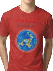 Flat Earth Tee Shirts & More! Tri-blend T-Shirt