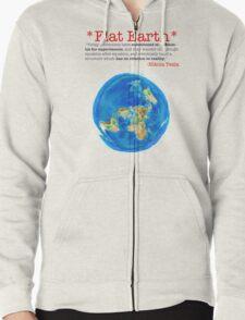 Flat Earth Tee Shirts & More! Zipped Hoodie