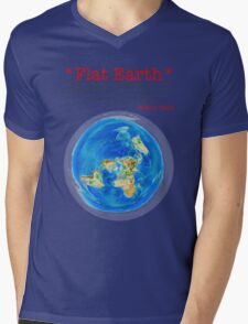 Flat Earth Tee Shirts & More! Mens V-Neck T-Shirt
