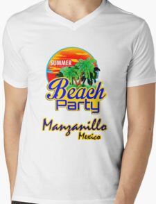 Manzanillo, Mexican Riviera Mens V-Neck T-Shirt