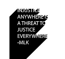 MLK Quote Text Photographic Print
