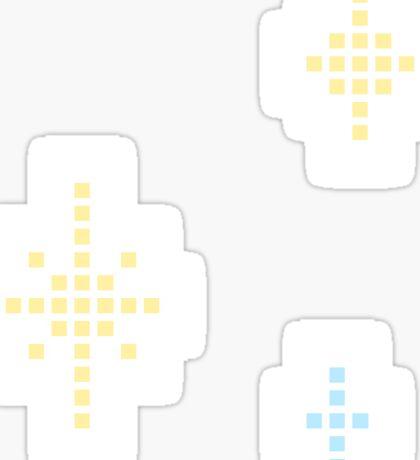 Pixel Pastel Stars Sticker