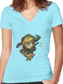 Toon Link Women's Fitted V-Neck T-Shirt