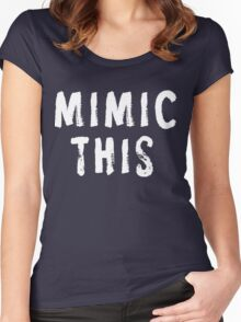 MIMIC THIS - Kimmel (Screen Accurate) Edge of Tomorrow Women's Fitted Scoop T-Shirt