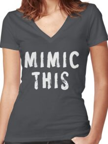 MIMIC THIS - Kimmel (Screen Accurate) Edge of Tomorrow Women's Fitted V-Neck T-Shirt