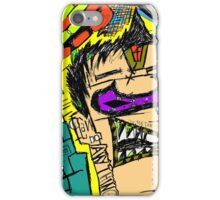 Abstract Neon Cartoon Drawing iPhone Case/Skin
