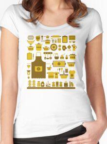 retro kitchenware Women's Fitted Scoop T-Shirt