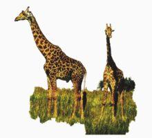 African Giraffe - Walking Africa Kids Tee