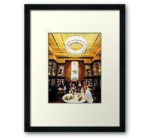 Luncheon Trays Framed Print