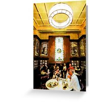 Luncheon Trays Greeting Card
