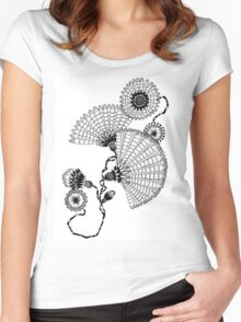 Daisies and Lines - 2 Women's Fitted Scoop T-Shirt
