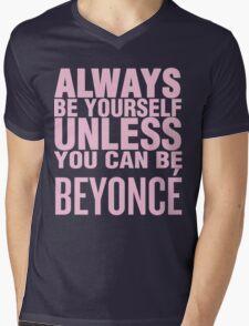 Bey Yourself (pink font) Mens V-Neck T-Shirt
