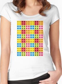retro pattern Women's Fitted Scoop T-Shirt
