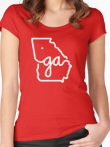 Georgia Pride Women's Fitted Scoop T-Shirt