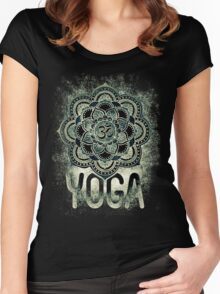 Sacred Geometry for your daily Life- YOGA DARKIE Women's Fitted Scoop T-Shirt