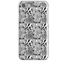 Abstract hand drawn black and white seamless pattern  iPhone Case/Skin