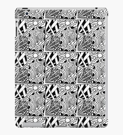 Abstract hand drawn black and white seamless pattern  iPad Case/Skin