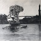 Old floating crane by Lorenzo Castello
