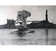 Old floating crane Photographic Print