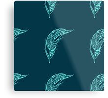 Seamless pattern with hand drawn feather  Metal Print