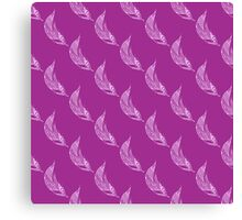 Seamless pattern with hand drawn feather Canvas Print
